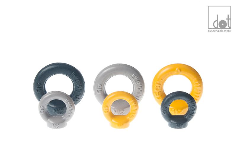 Gałki - grafitowe, szare, żółte