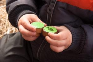 gałki dzieciece - zielone emaliowane - komplecik zielony