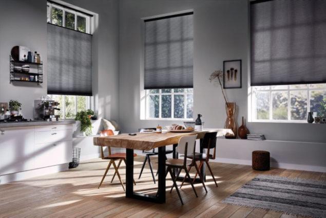Piękne szare wnętrze - źródło Luxaflex