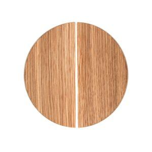Uchwyty BASIC półokrągłe - 10 cm - dębowe, olejowane.