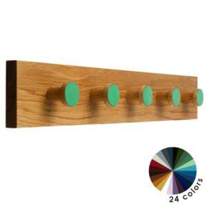 Długi kolorowy wieszak do przedpokoju 64 cm - HORIZON COLOR - DOT Manufacture