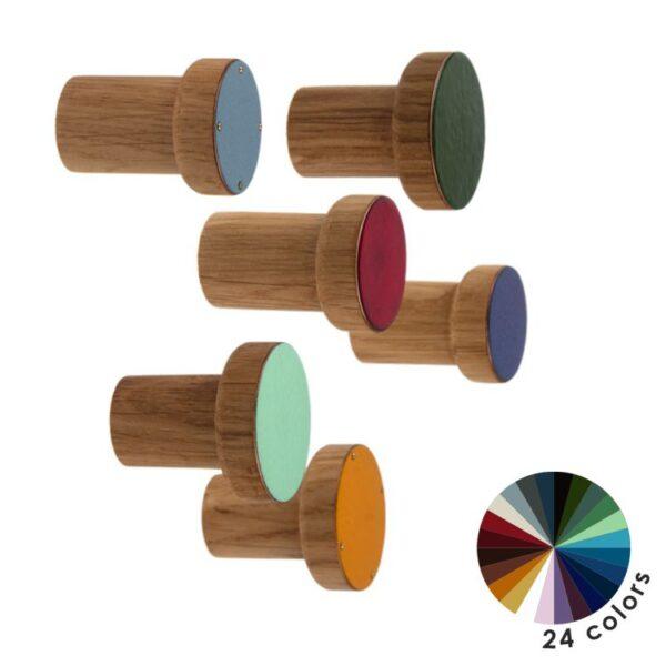Kolorowe wieszaki na ubrania lub na kwietniki - SIMPLE emaliowane by DOT Manufacture