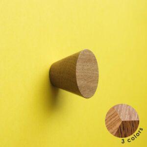 Nowoczesna gałka dębowa BASIC CONE - DOT Manufacture