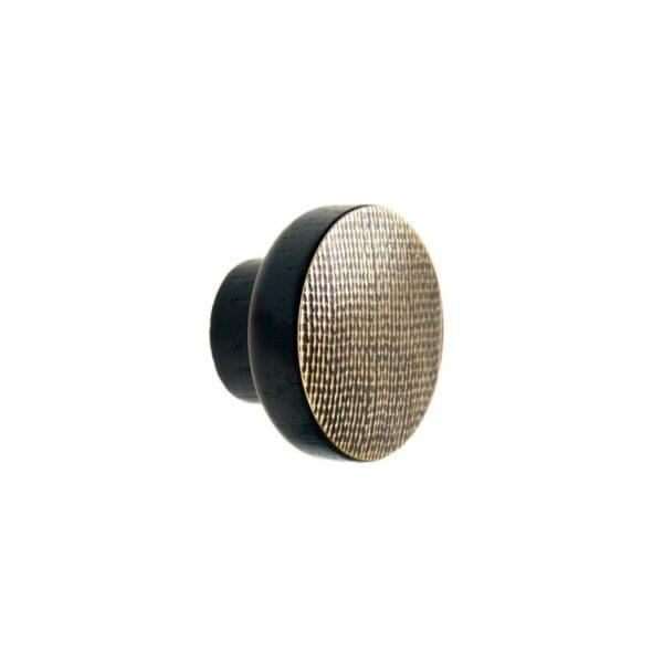 Mosiężne STAMP BLACK - gałki do mebli