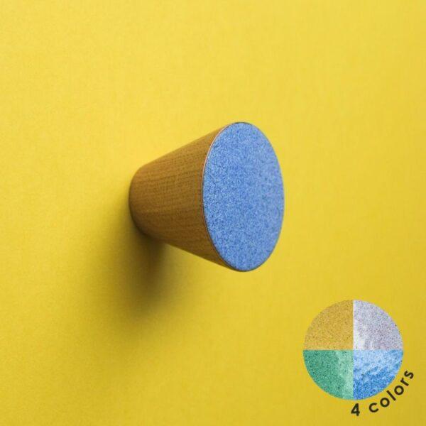 Minimalistyczne gałki do mebli MELANGE 4 cm - DOT Manufacture