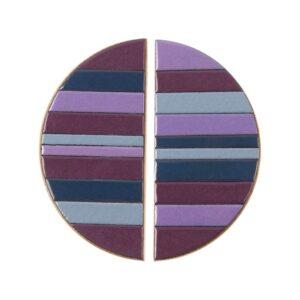 Półokrągłe uchwyty meblowe w fioletowej tonacji - DOT Manufacture