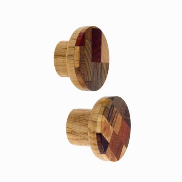Gałki do mebli z drewnianą mozaiką - KLIMT by DOT Manufacture